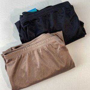 2 Pairs Vanity Fair Black Walnut Panties 9/2XL